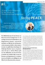 facing PEACE - September 2018